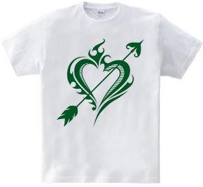 Heart トライバル type1-Steal Your Heart- Green