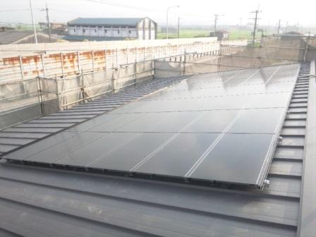 太陽光パネル施工