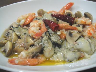 DSC03893_20150131_02_牡蠣と海老のアヒージョ