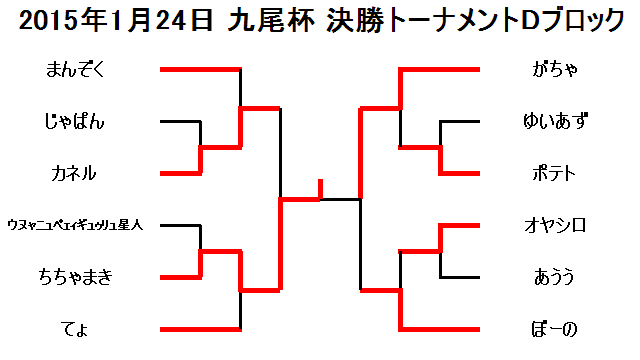 2015年1月24日九尾杯決勝トーナメントDブロック