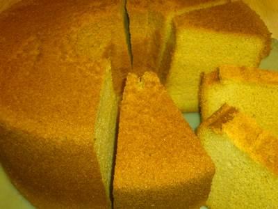 カラメルシフォンケーキ カット