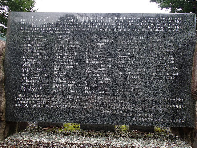 慰霊碑の裏側の名簿