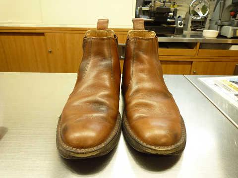 靴磨き リーガル ビフォーアフター