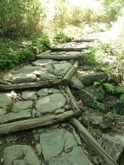 登りの石段