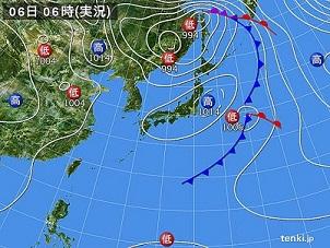 6日天気図