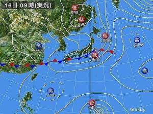 16日天気図