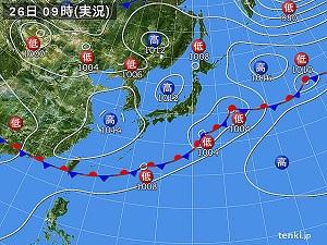 26日天気図