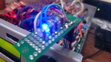 サンプリングレート表示用LED表示例1
