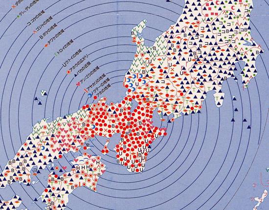 全国アホ・バカ分布の図