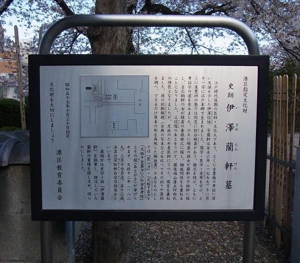 伊沢蘭軒墓 (2)