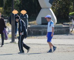 マラソン大会_校内へ