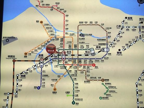 台北駅地下鉄網