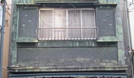 池ノ上駅商店街の銅板葺⑤