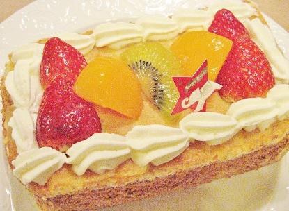 洋ナシのカスタードクリームケーキです