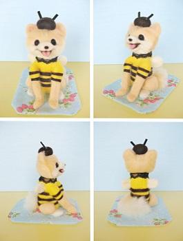 前からミツバチ・ポメちゃん
