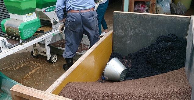 燻炭を混ぜて使います。