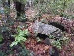 神社の裏の石仏