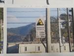 津波浸水区間の標識