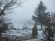 今朝の幻想的な霧