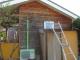 ジイ小屋の防腐剤塗の養生