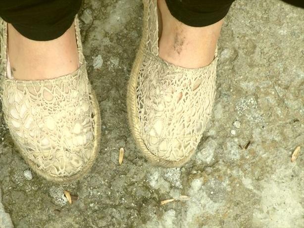 康定靴ぼろぼろ