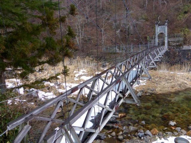 丸畑渓谷の吊橋3