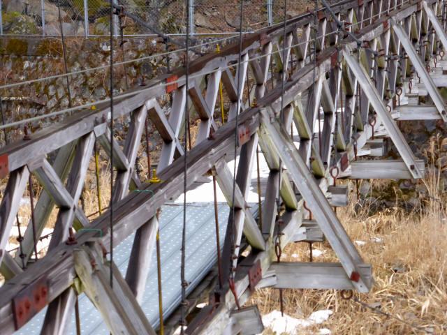 丸畑渓谷の吊橋4