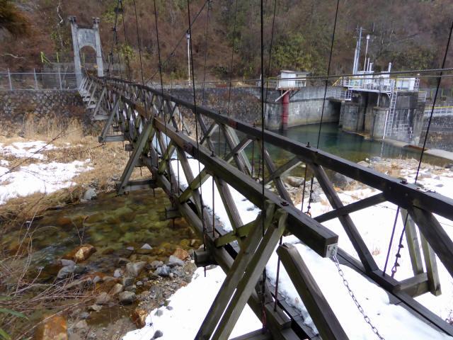 丸畑渓谷の吊橋6