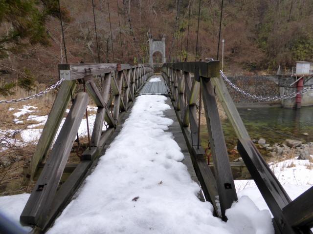 丸畑渓谷の吊橋7