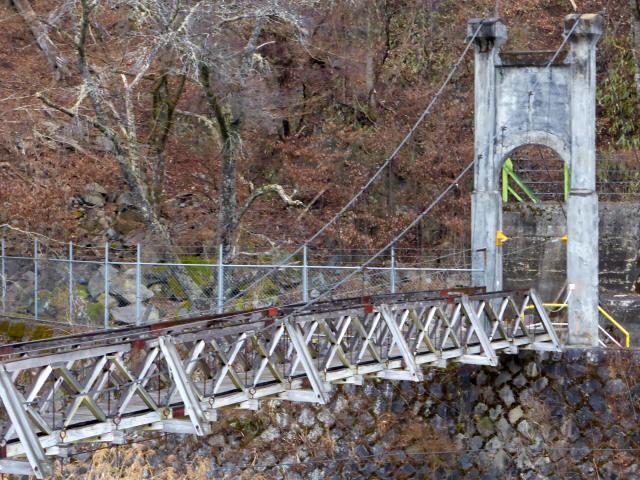 丸畑渓谷の吊橋8