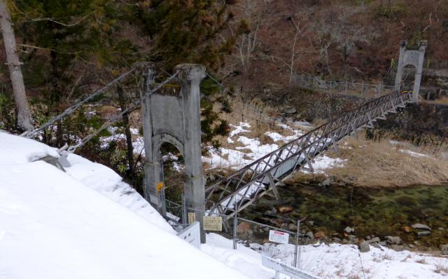 丸畑渓谷の吊橋0