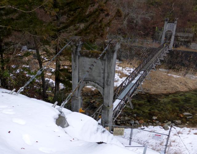 丸畑渓谷の吊橋a