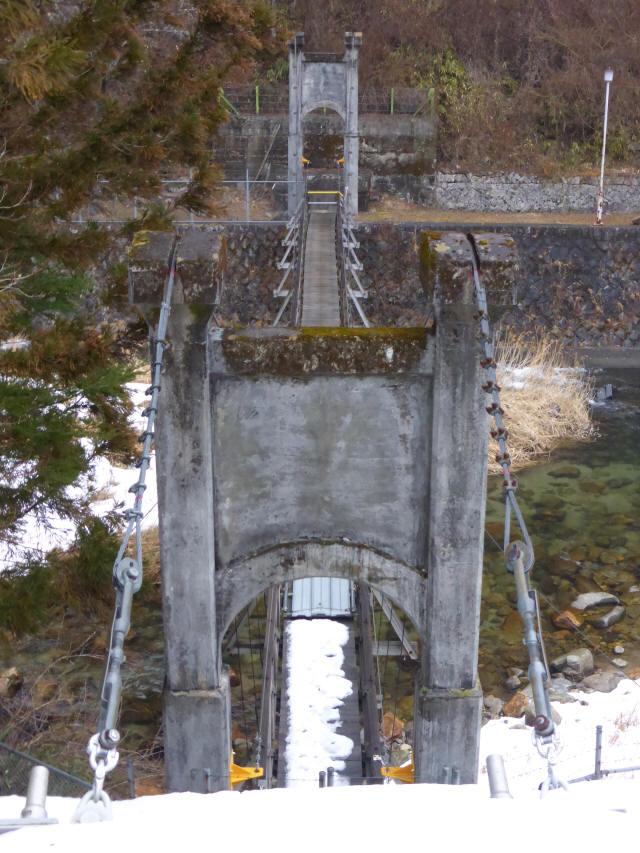 丸畑渓谷の吊橋b