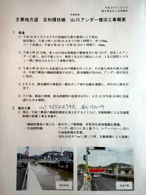栃木県議会<県土整備委員会>現地調査!安足土木事務所管内②