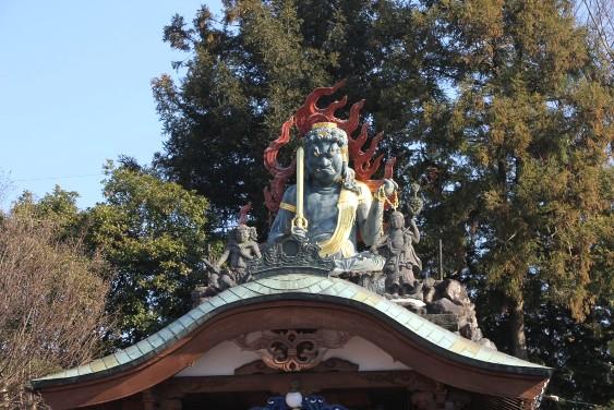 青銅像不動明王坐像