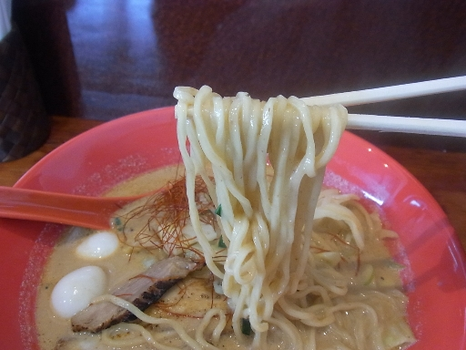 低加水ストレートの中麺