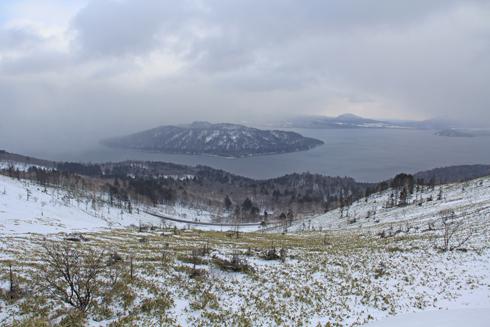 冬の屈斜路湖と美幌峠-3
