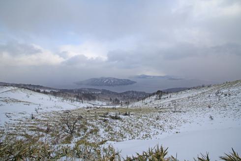 冬の屈斜路湖と美幌峠-5