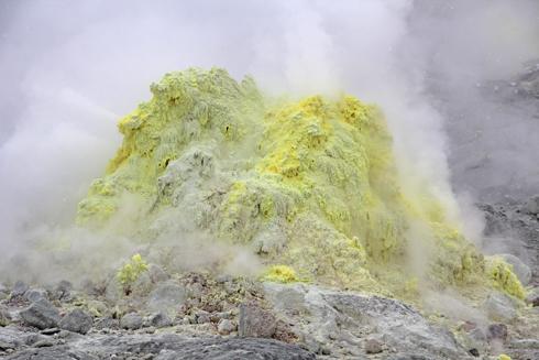 硫黄山と自然硫黄-10
