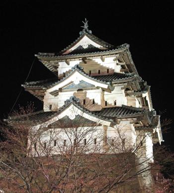 弘前城桜祭り2015夜桜-7