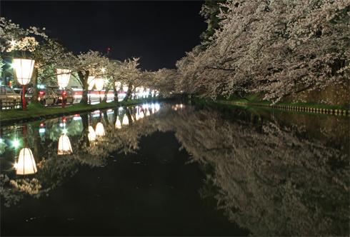 弘前城桜祭り2015夜桜-18