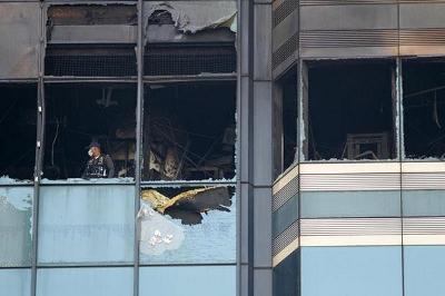 サイアムコマーシャル銀行の火災画像
