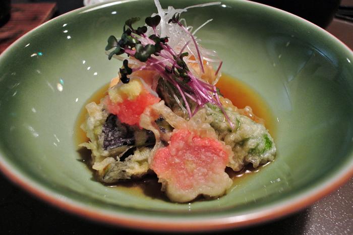 さかなや隠居@茨城県東茨城郡大洗町 白子と野菜の天ぷら
