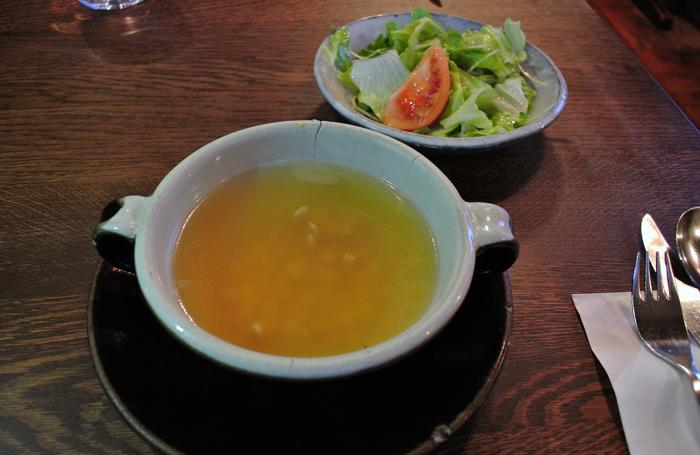 古陶里@益子町益子 スープ&サラダ