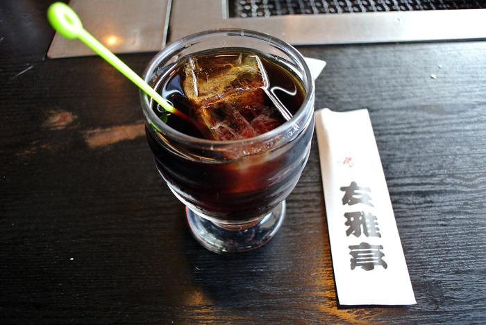 友雅亭@宇都宮市陽東 アイスコーヒー