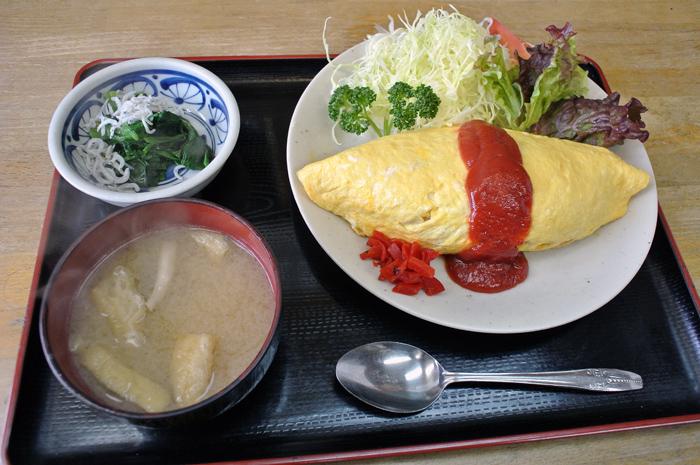 松月食堂@下都賀郡壬生町 オムライス1