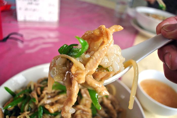 中華料理 竜園@宇都宮市鶴田町 ピーマンと豚肉の細切り丼2