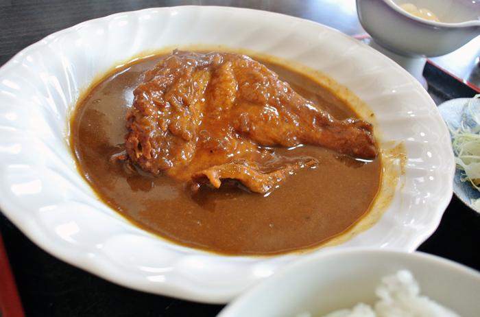食事処 こまつ@市貝町上根 鶏ももから~いカレー煮込み定食1