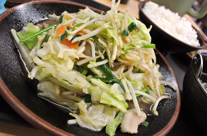 登竜 本店@さくら市氏家 肉入り野菜炒め定食2