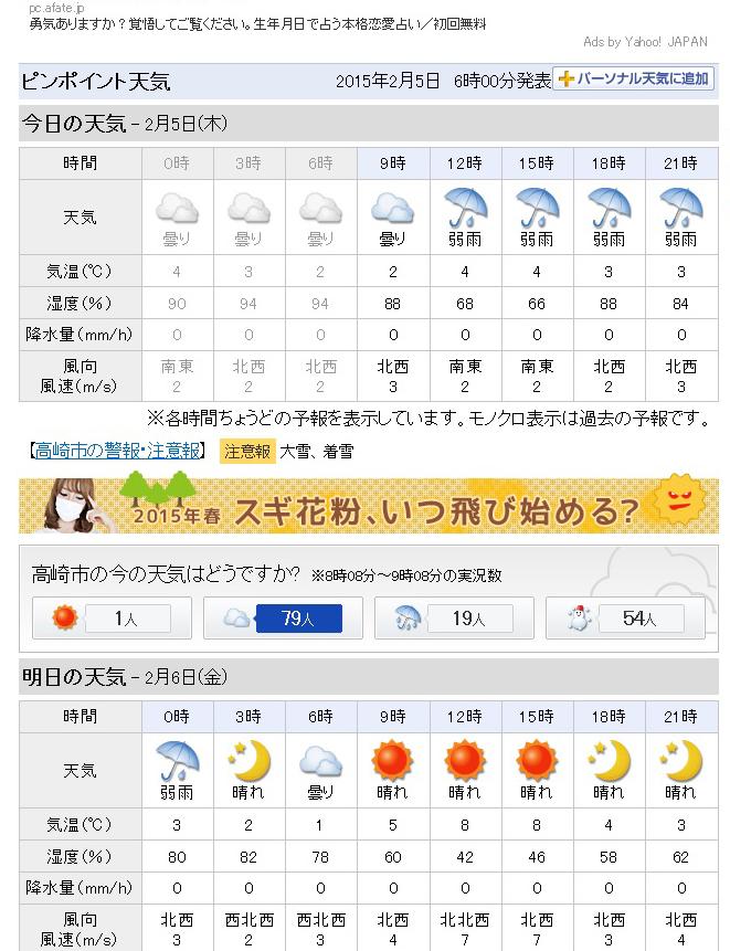 予報 高崎 天気